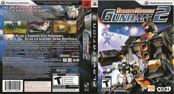 Dynasty Warriors: Gundam 2 PS3 cover (BLUS30288)