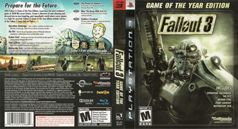 Fallout 3 Game of the Year Edition PS3 cover (BLUS30451)