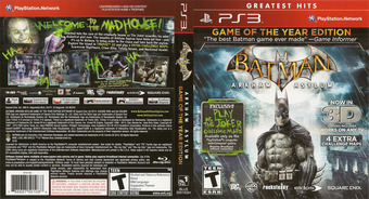 Batman: Arkham Asylum (Game of the Year Edition) PS3 cover (BLUS30515)