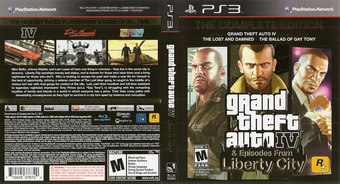 Grand Theft Auto IV: The Complete Edition PS3 cover (BLUS30682)