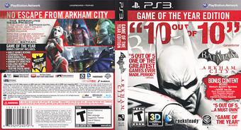 Batman: Arkham City (Game of the Year Edition) PS3 cover (BLUS30978)
