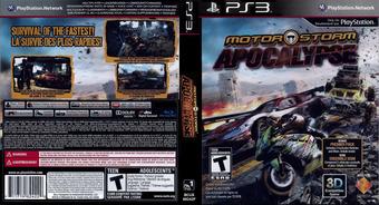 MotorStorm Apocalypse PS3 cover (BCUS98242)