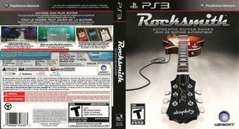 Rocksmith Authentic Guitar Games PS3 cover (BLUS30670)