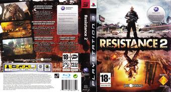 Resistance 2 PS3 cover (BCES00226)