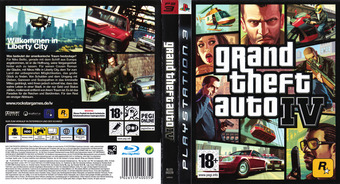 Grand Theft Auto IV PS3 cover (BLES00229)