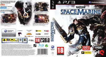 Warhammer 40000: Space Marine PS3 cover (BLES01347)