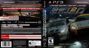 Shift 2: Unleashed PS3 cover (BLUS30580)