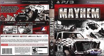 Mayhem PS3 cover (BLUS30694)