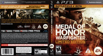 Medal of Honor: Warfighter PS3 cover (BLUS30990)
