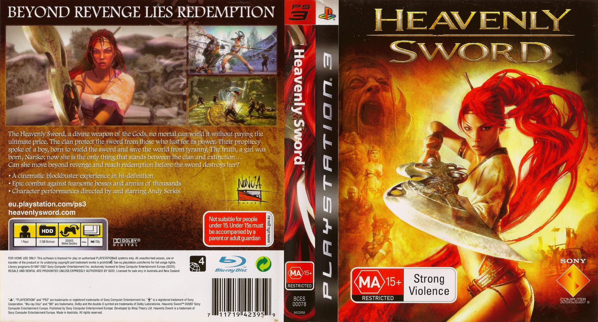 Heavenly Sword PS3 coverfullHQ (BCES00078)