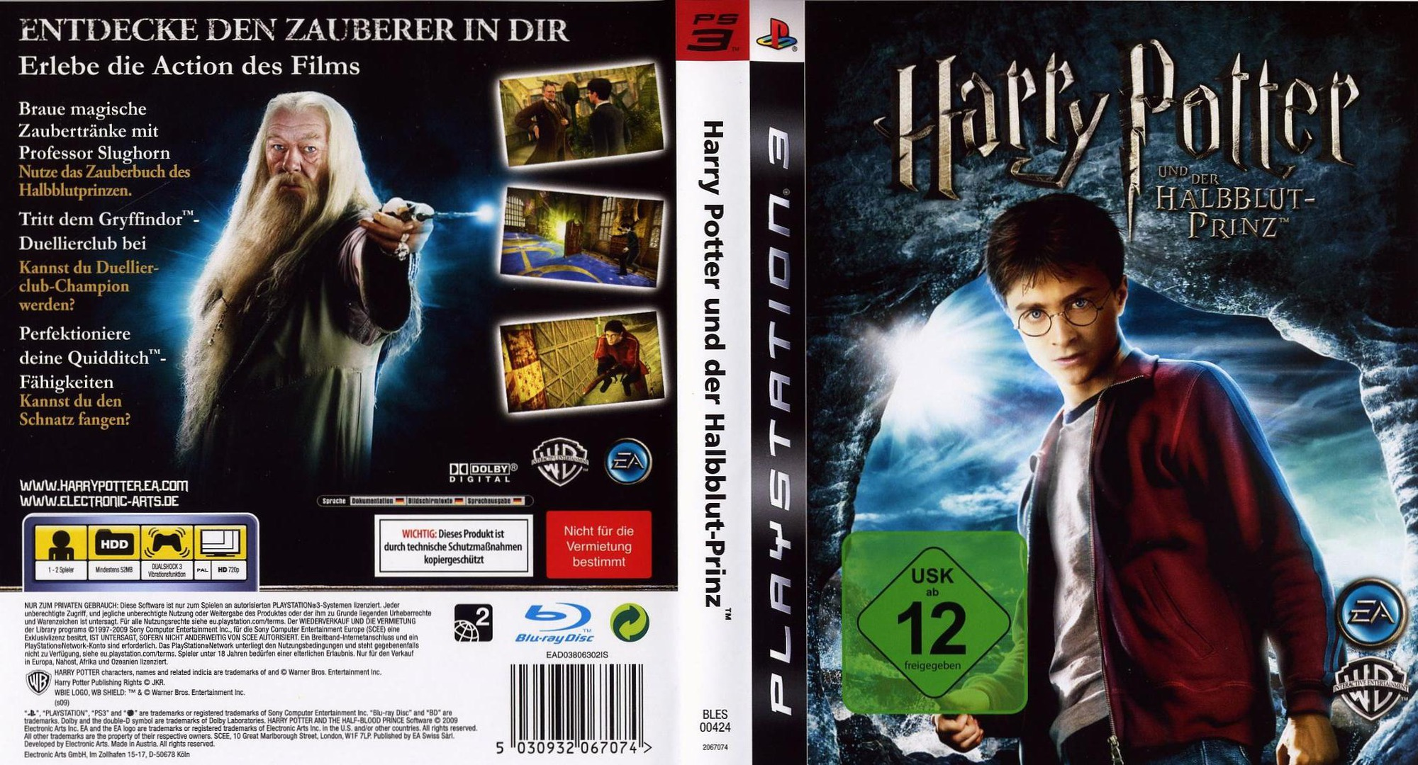 Harry Potter und der Halfbblut-Prinz PS3 coverfullHQ (BLES00424)