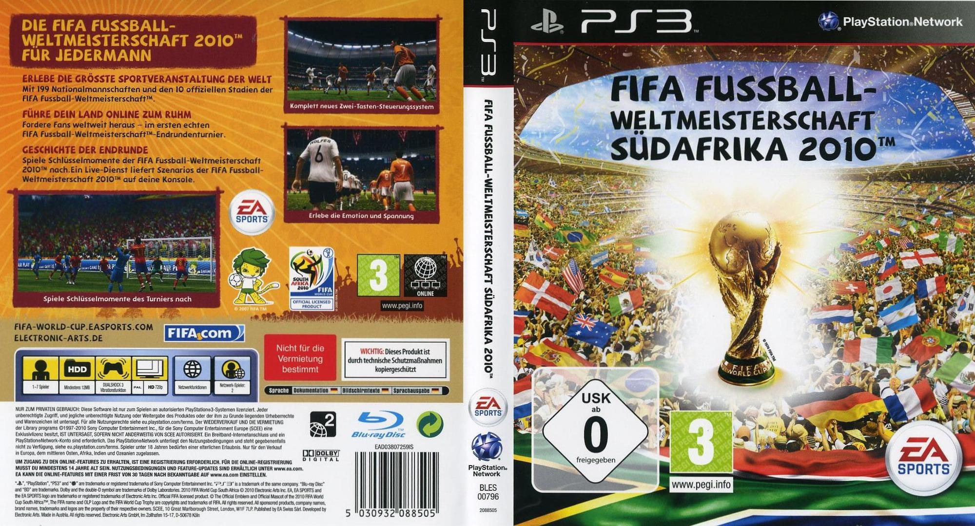 FIFA Fussball: Weltmeisterschaft Südafrika 2010 PS3 coverfullHQ (BLES00796)