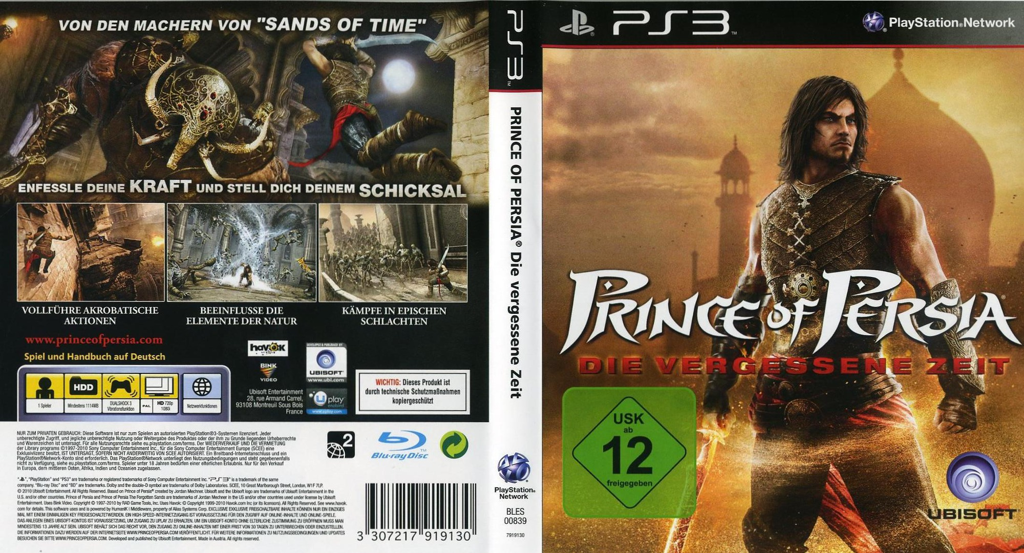 Prince of Persia: Die Vergessene Zeit PS3 coverfullHQ (BLES00839)