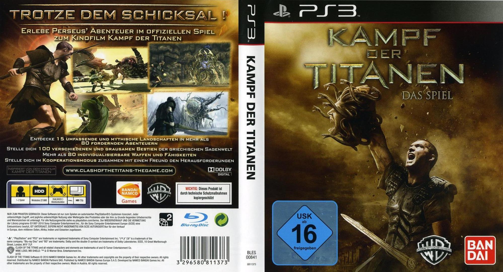Kampf der Titanen: Das Spiel PS3 coverfullHQ (BLES00841)