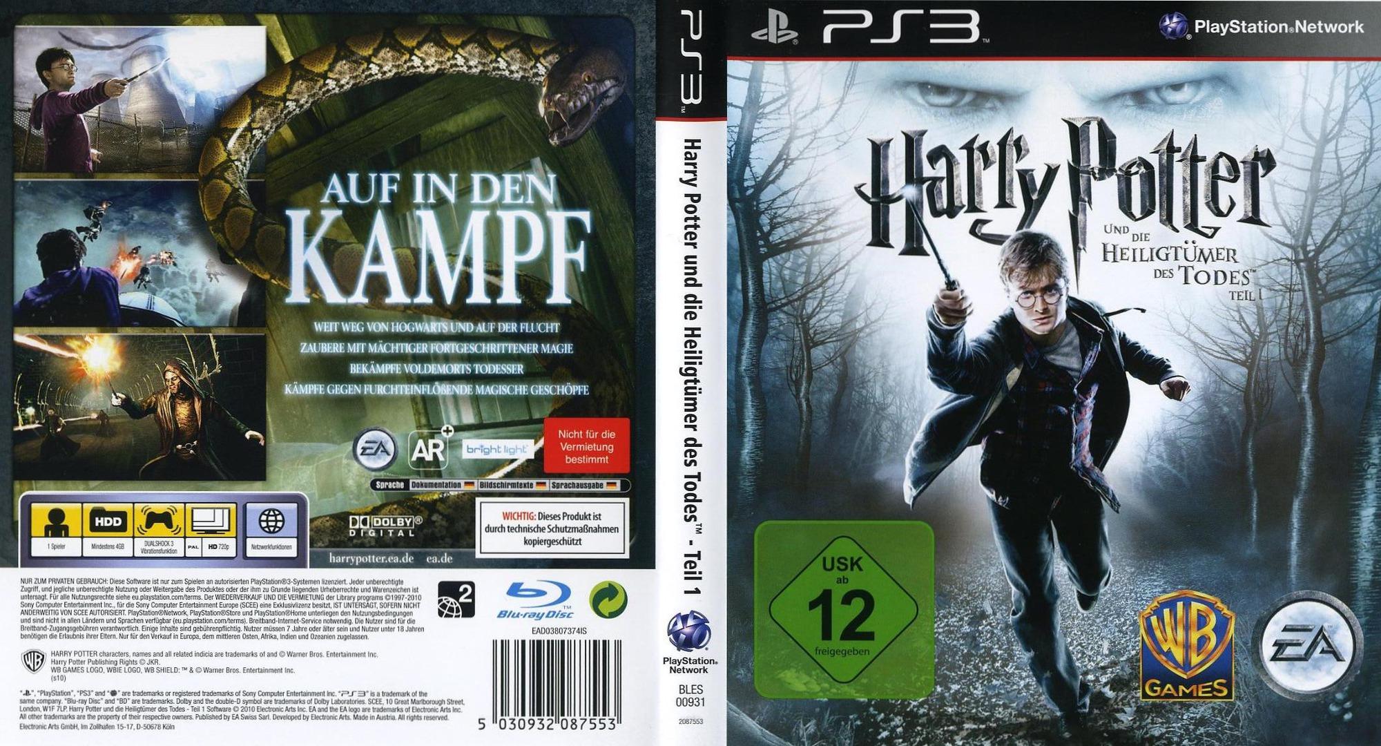 Harry Potter un die Heiligtümer des Todes - Teil 1 PS3 coverfullHQ (BLES00931)