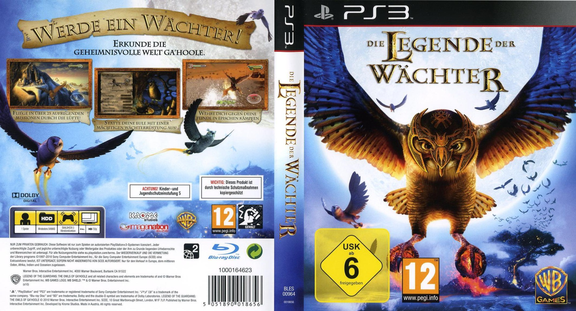 Die Legende der Wächter PS3 coverfullHQ (BLES00964)