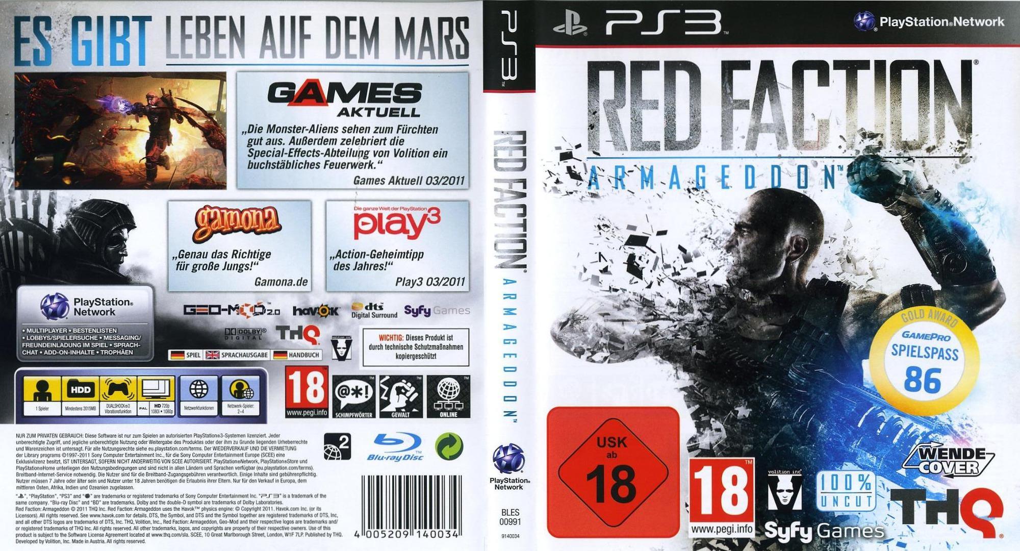 BLES00991 - Red Faction Armageddon