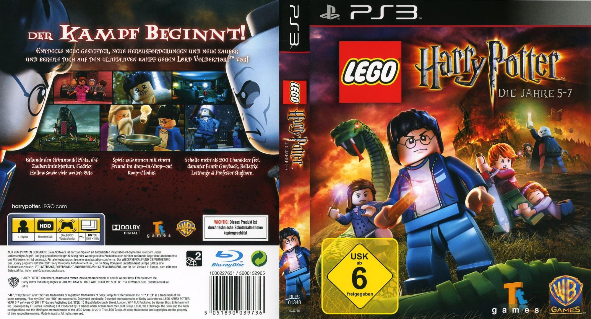 LEGO Harry Potter: Die Jahre 5-7 PS3 coverfullHQ (BLES01348)