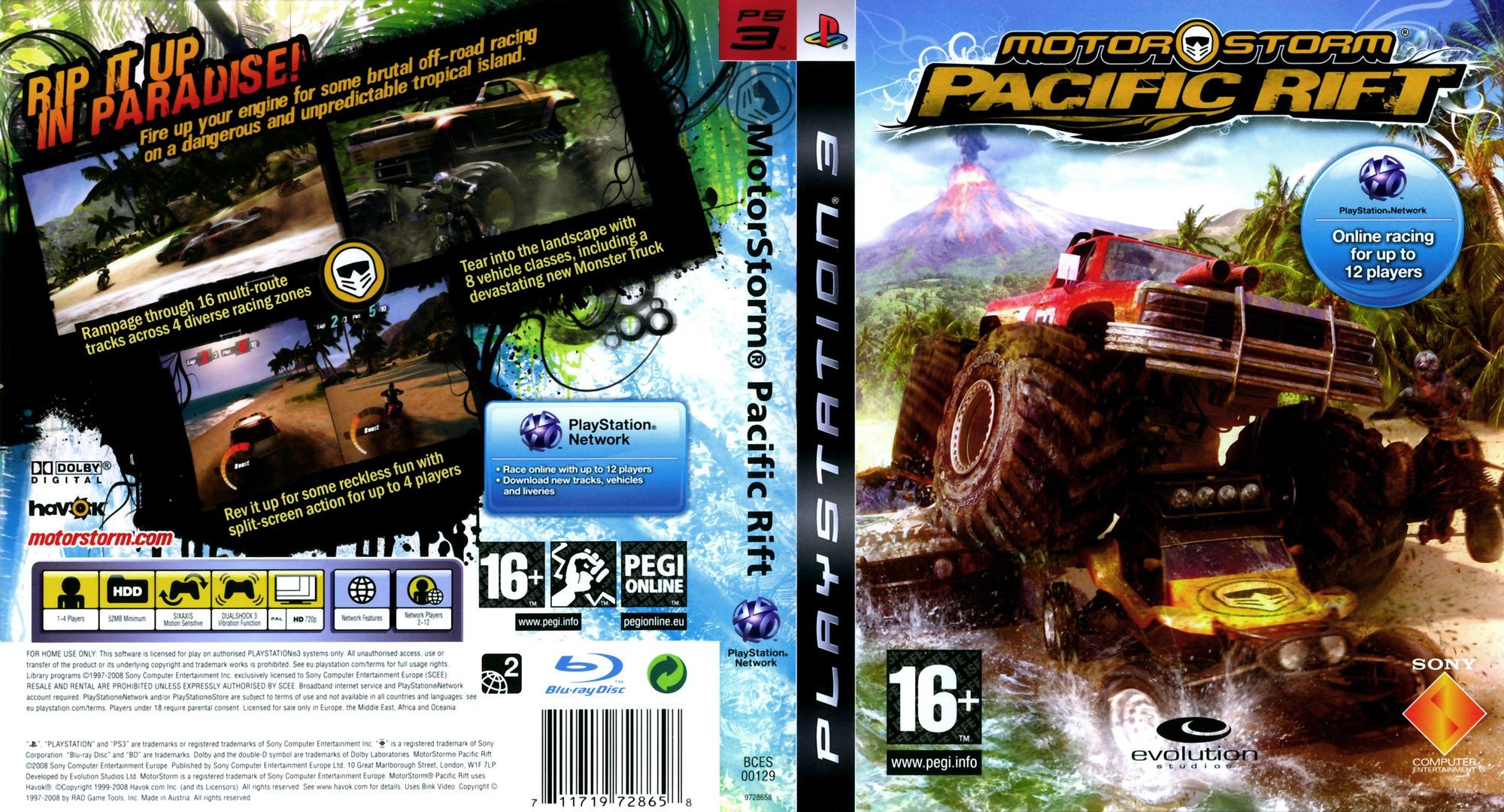 MotorStorm: Pacific Rift PS3 coverfullHQ (BCES00129)