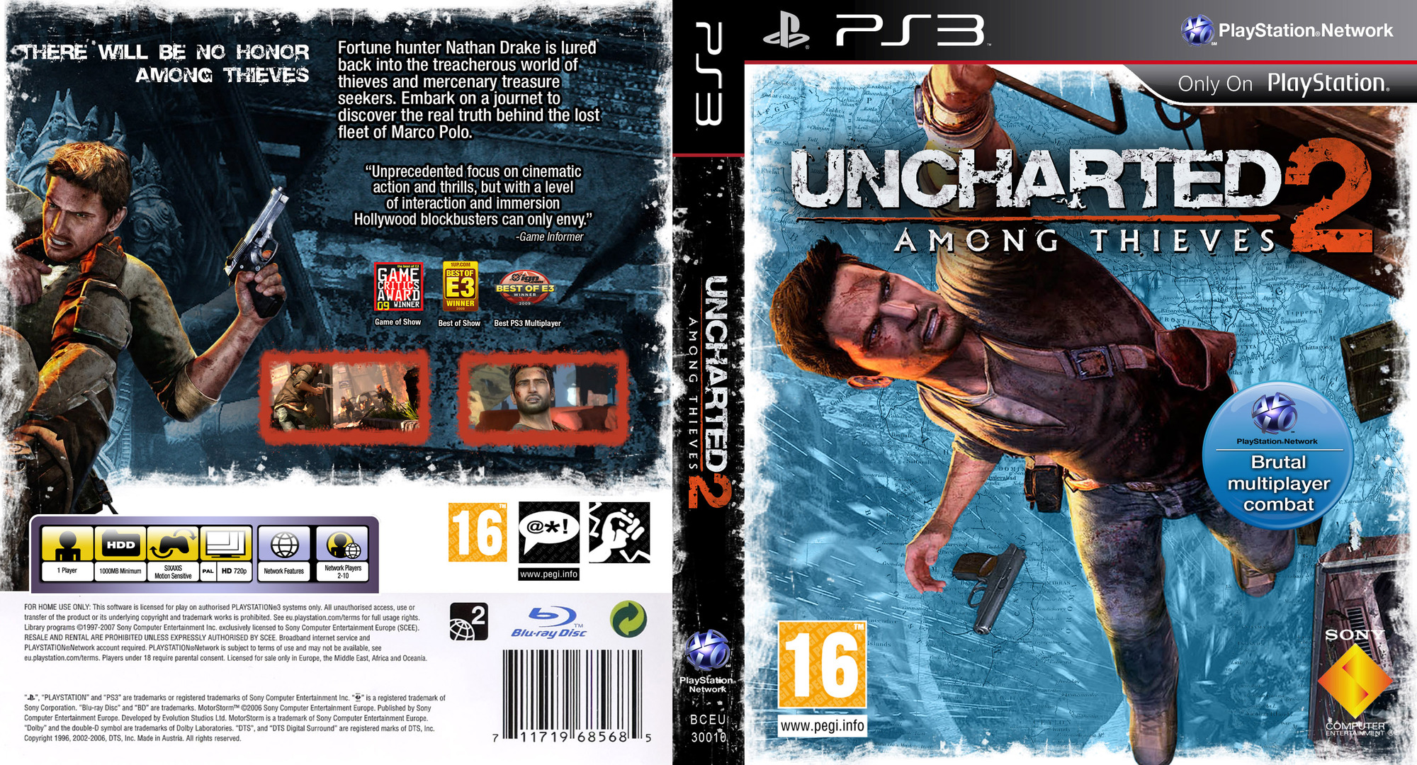 Uncharted 2: Among Thieves PS3 coverfullHQ (BCES00509)