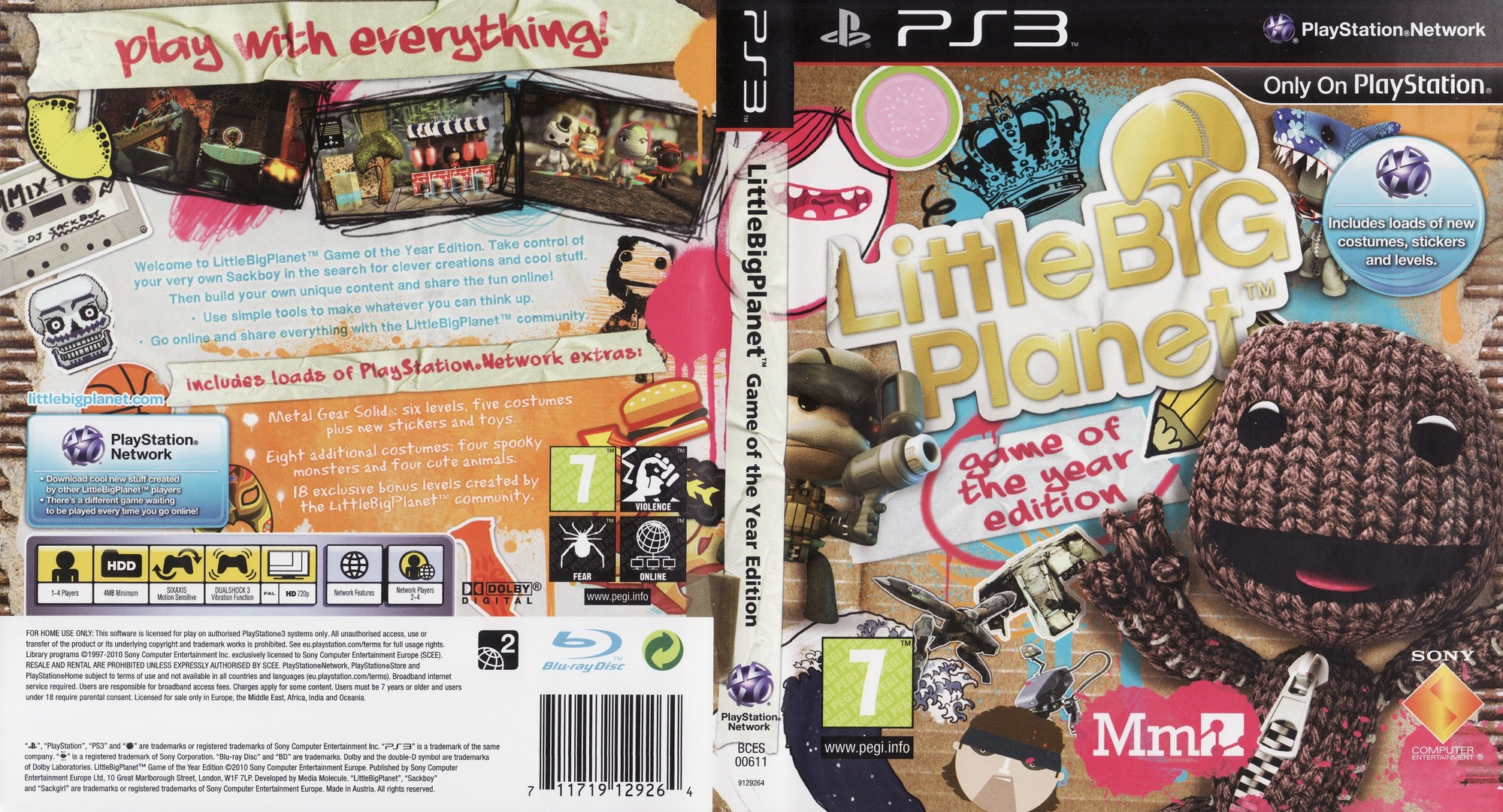 LittleBigPlanet (Game of the Year Edition) PS3 coverfullHQ (BCES00611)