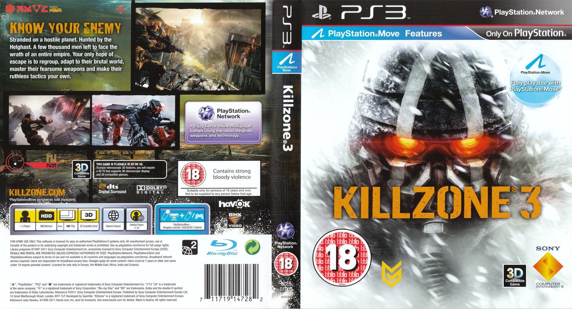 Killzone 3 PS3 coverfullHQ (BCES01007)