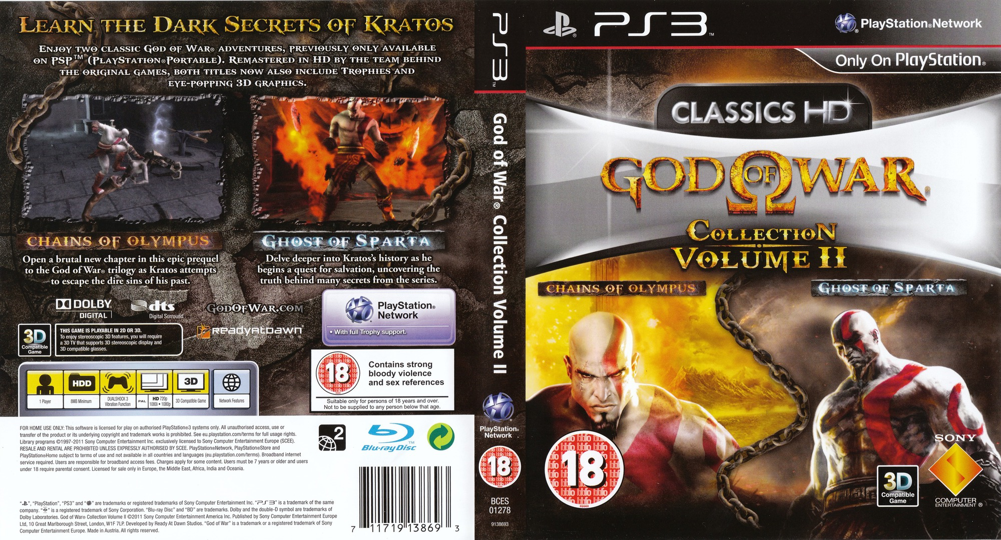 God of War Collection Volume II PS3 coverfullHQ (BCES01278)
