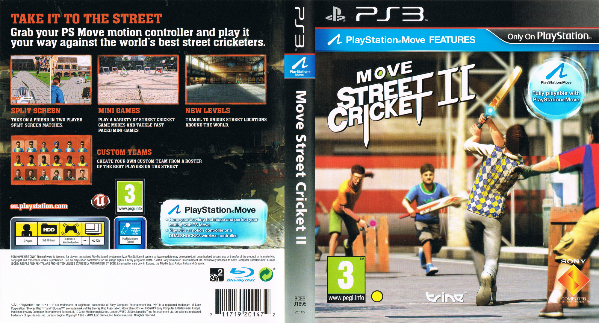 Move Street Cricket II PS3 coverfullHQ (BCES01695)