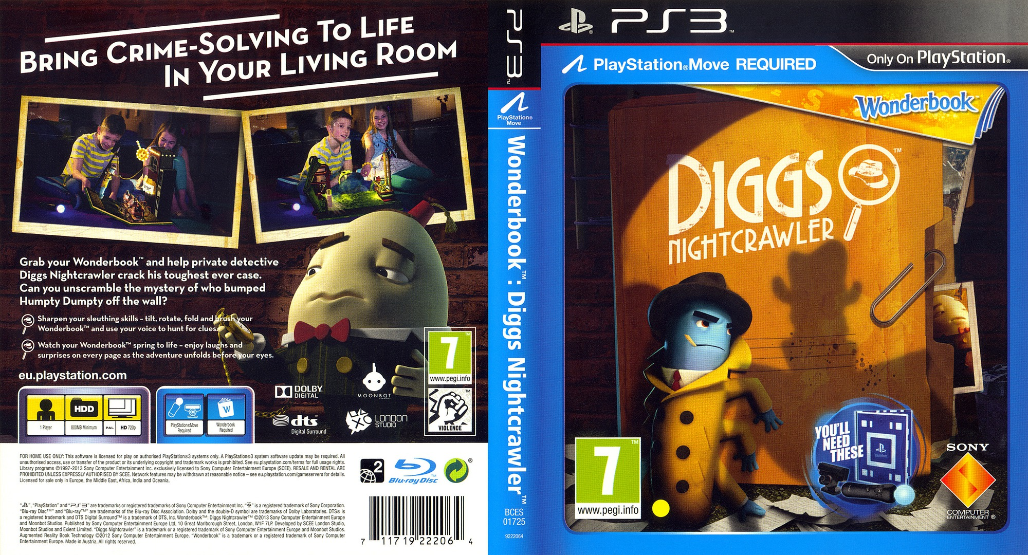 Wonderbook Diggs: Nightcrawler PS3 coverfullHQ (BCES01725)