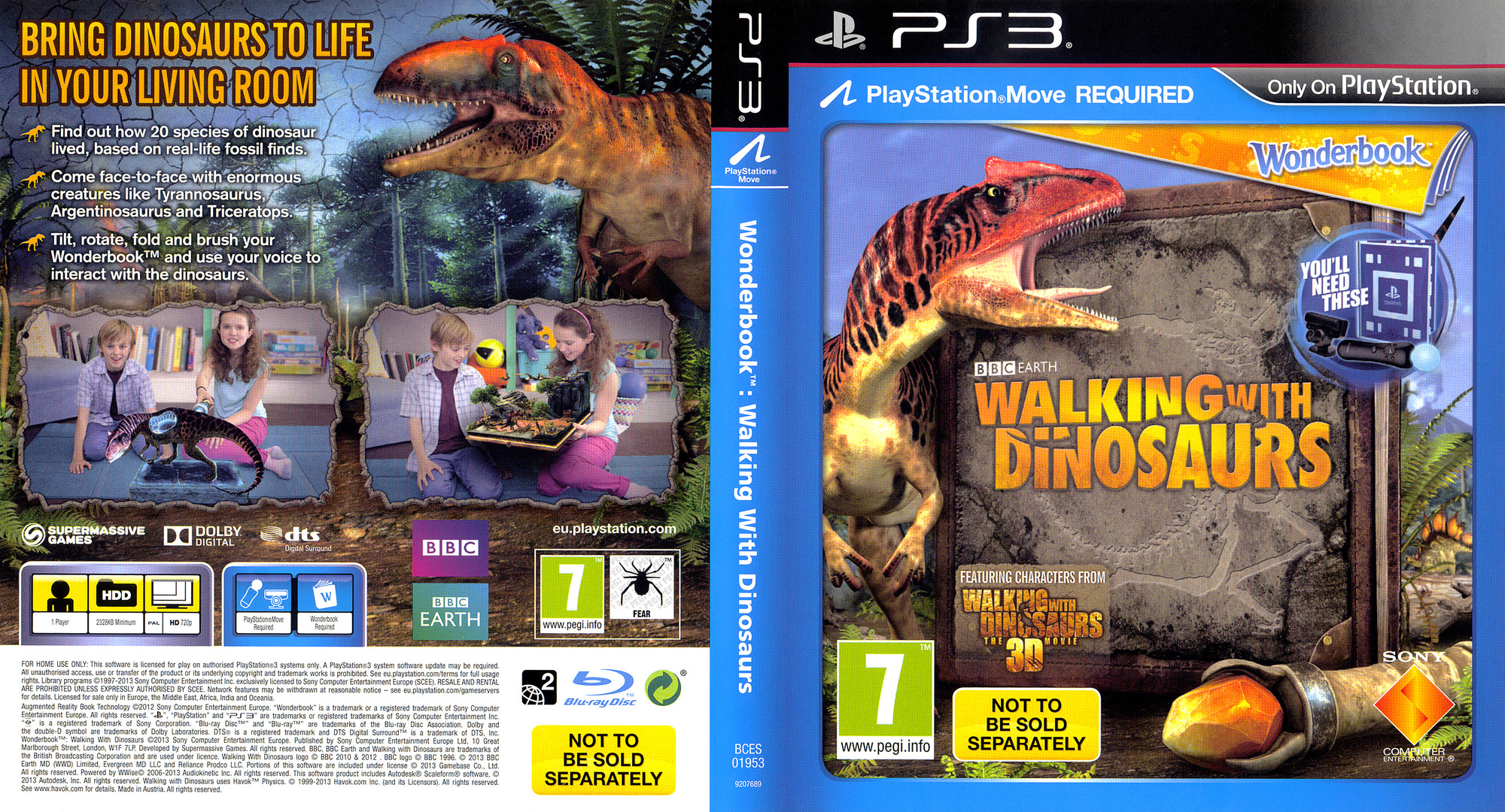 Wonderbook: Walking with Dinosaurs PS3 coverfullHQ (BCES01953)