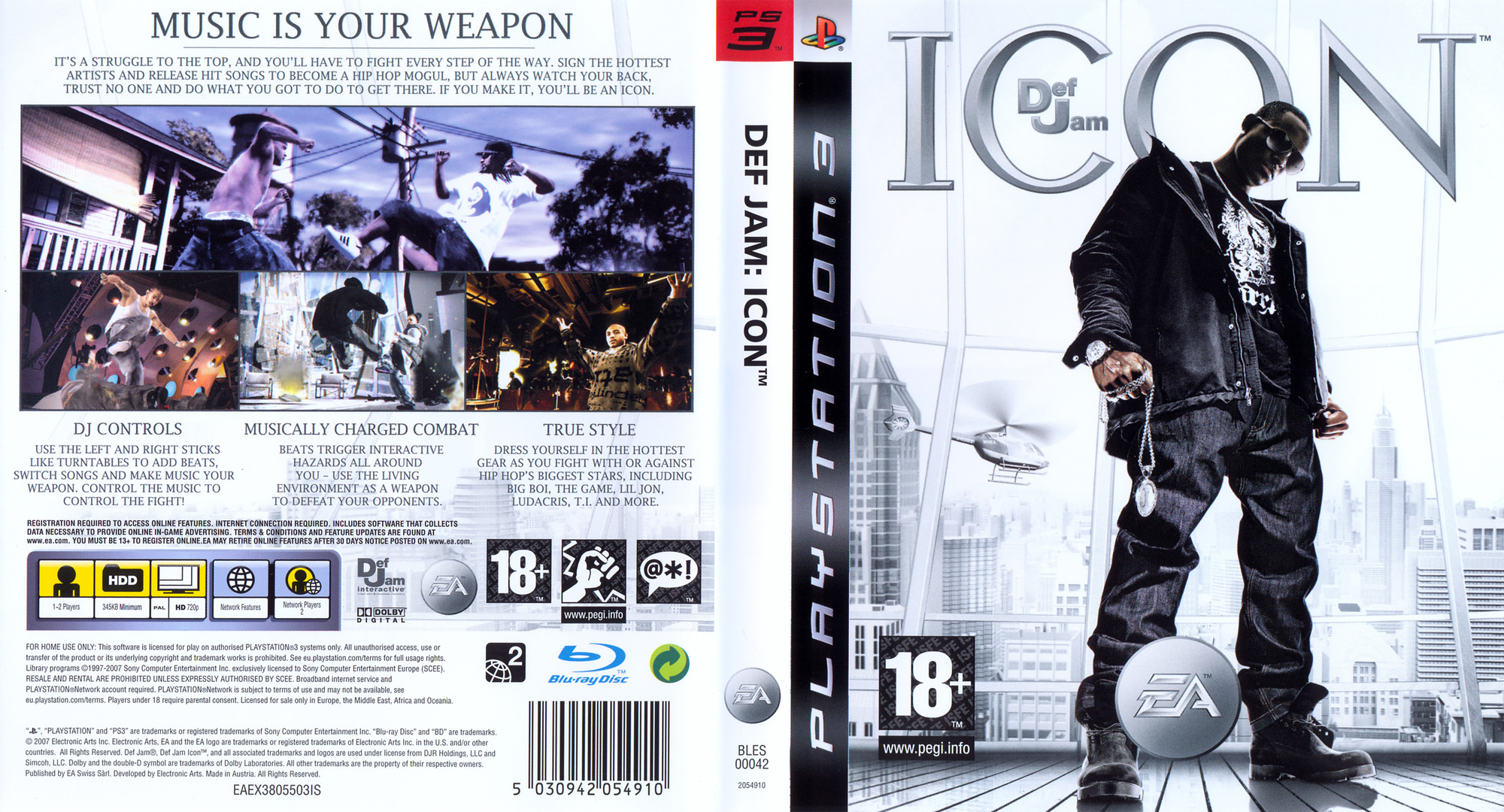 Def Jam: Icon PS3 coverfullHQ (BLES00042)