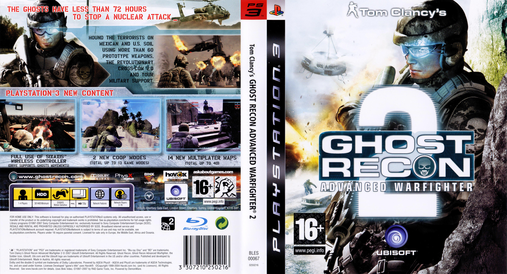 Tom Clancy's Ghost Recon: Advanced Warfighter 2 PS3 coverfullHQ (BLES00067)
