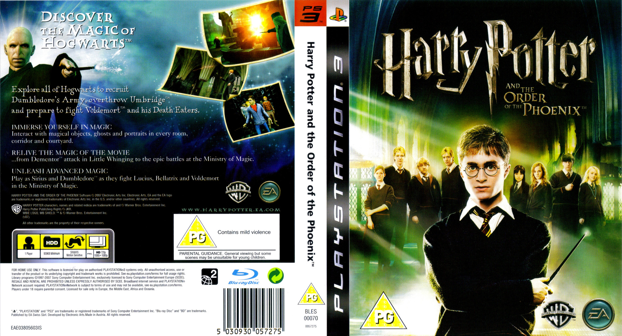 Harry Potter and the Order of the Phoenix PS3 coverfullHQ (BLES00070)