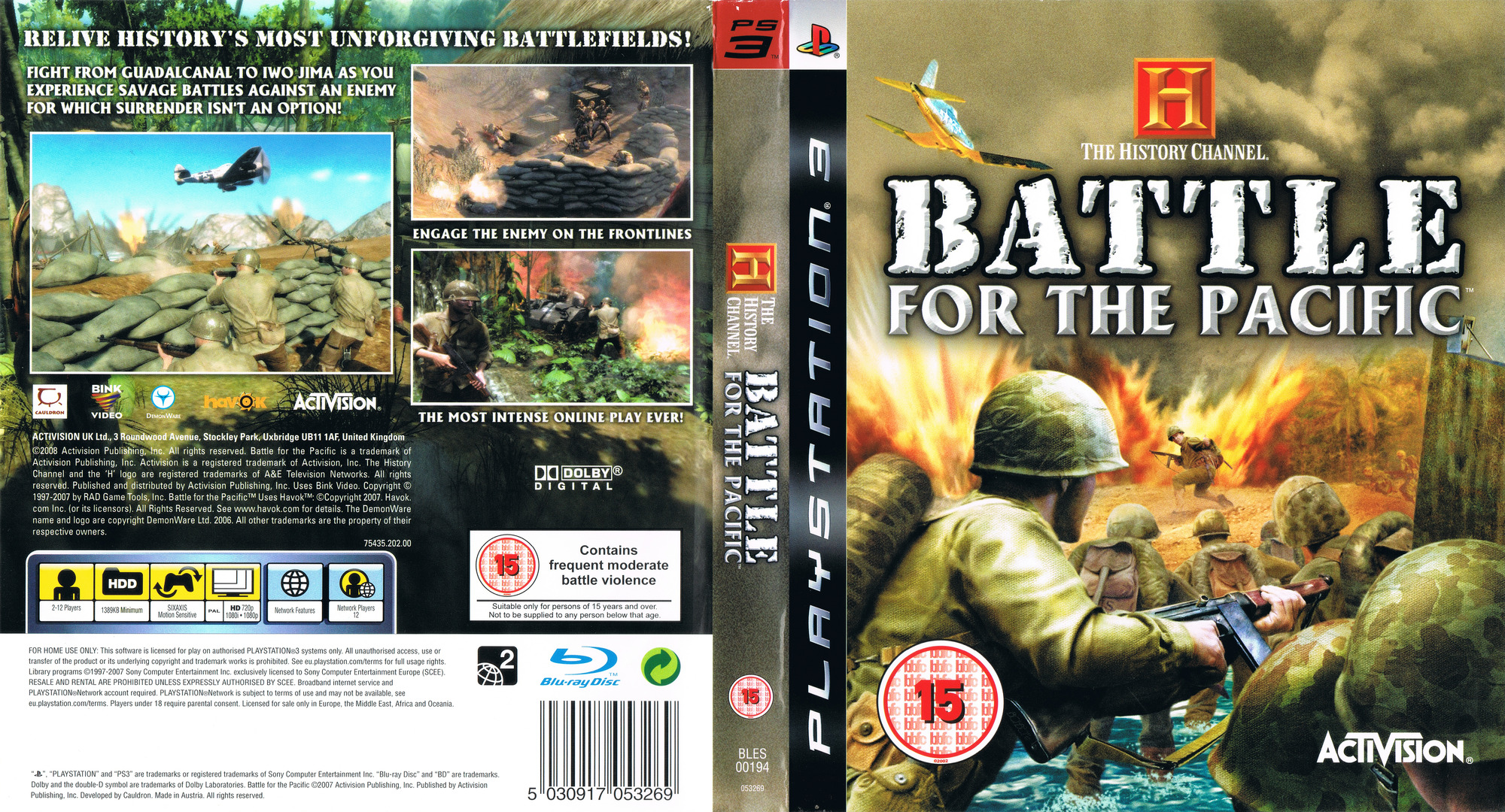 The History Channel: Battle for the Pacific PS3 coverfullHQ (BLES00194)