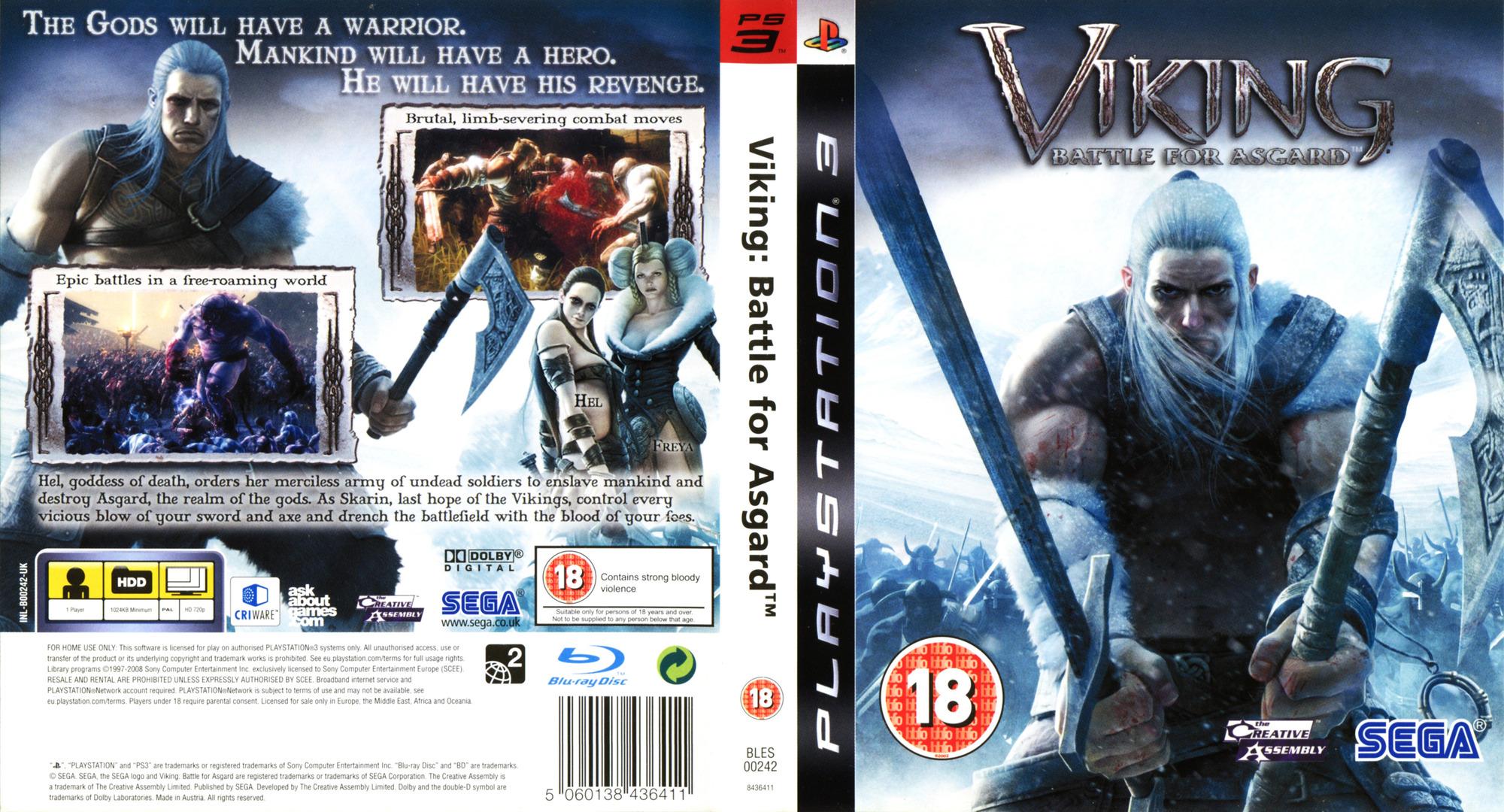 Viking: Battle for Asgard PS3 coverfullHQ (BLES00242)