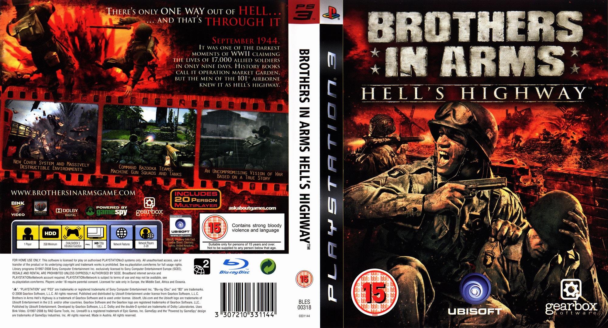 Brothers in Arms: Hell's Highway PS3 coverfullHQ (BLES00318)