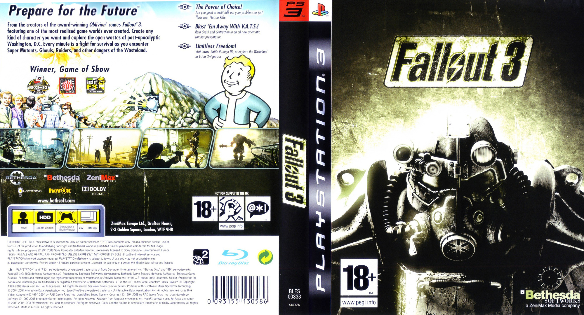 Fallout 3 PS3 coverfullHQ (BLES00333)