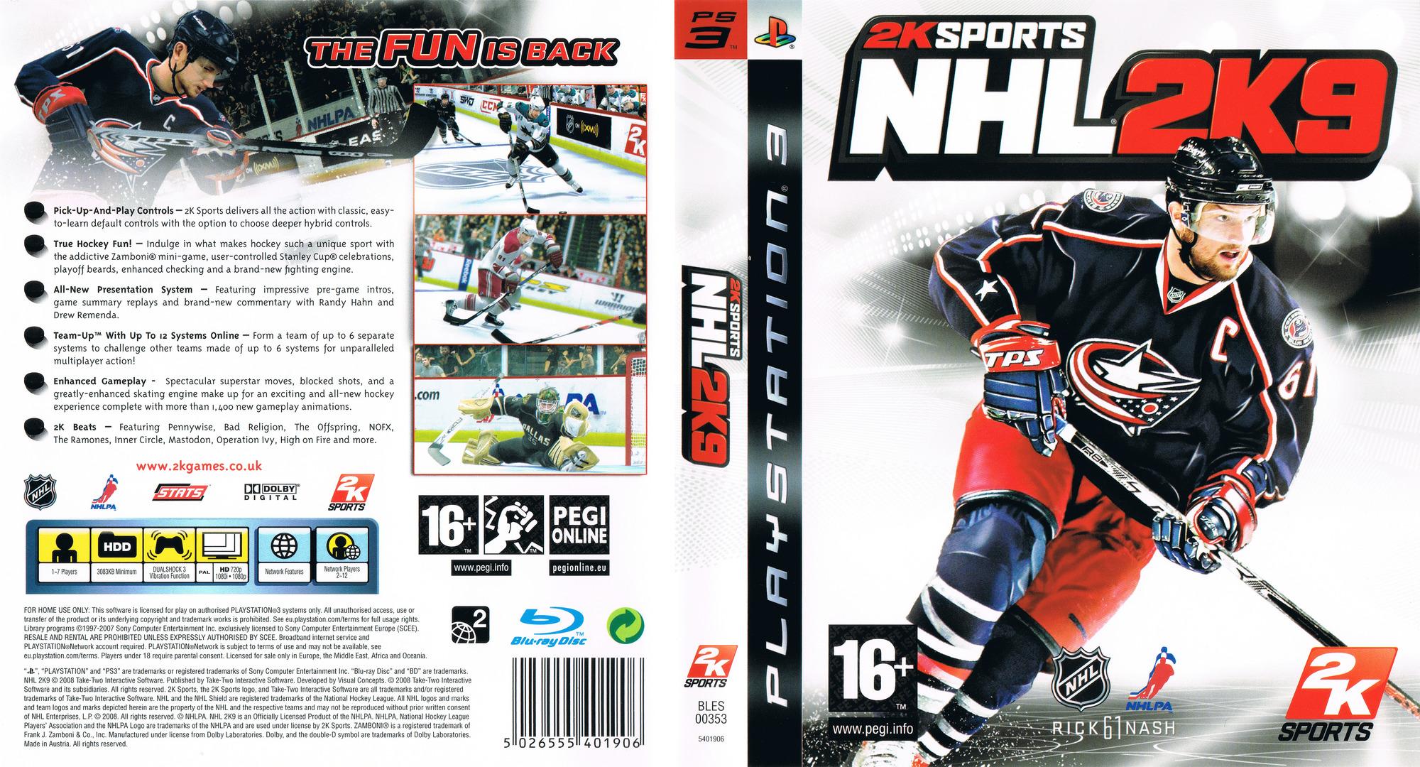 NHL 2K9 PS3 coverfullHQ (BLES00353)