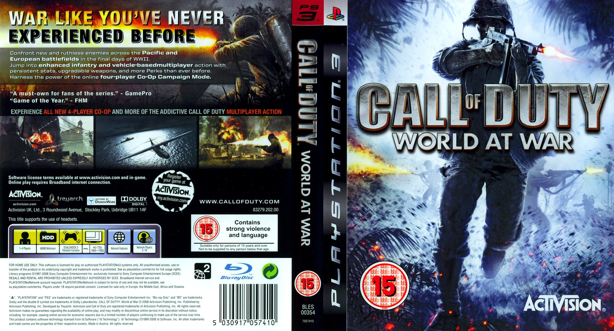 Call of Duty: World at War PS3 coverfullHQ (BLES00354)