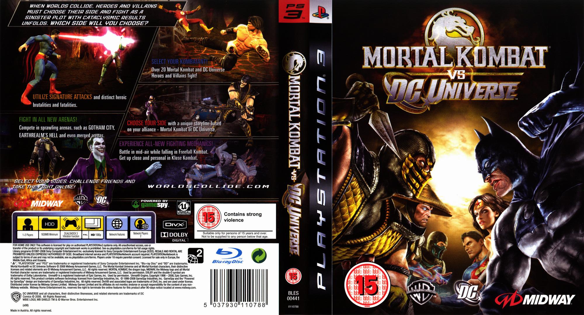Mortal Kombat vs. DC Universe PS3 coverfullHQ (BLES00441)