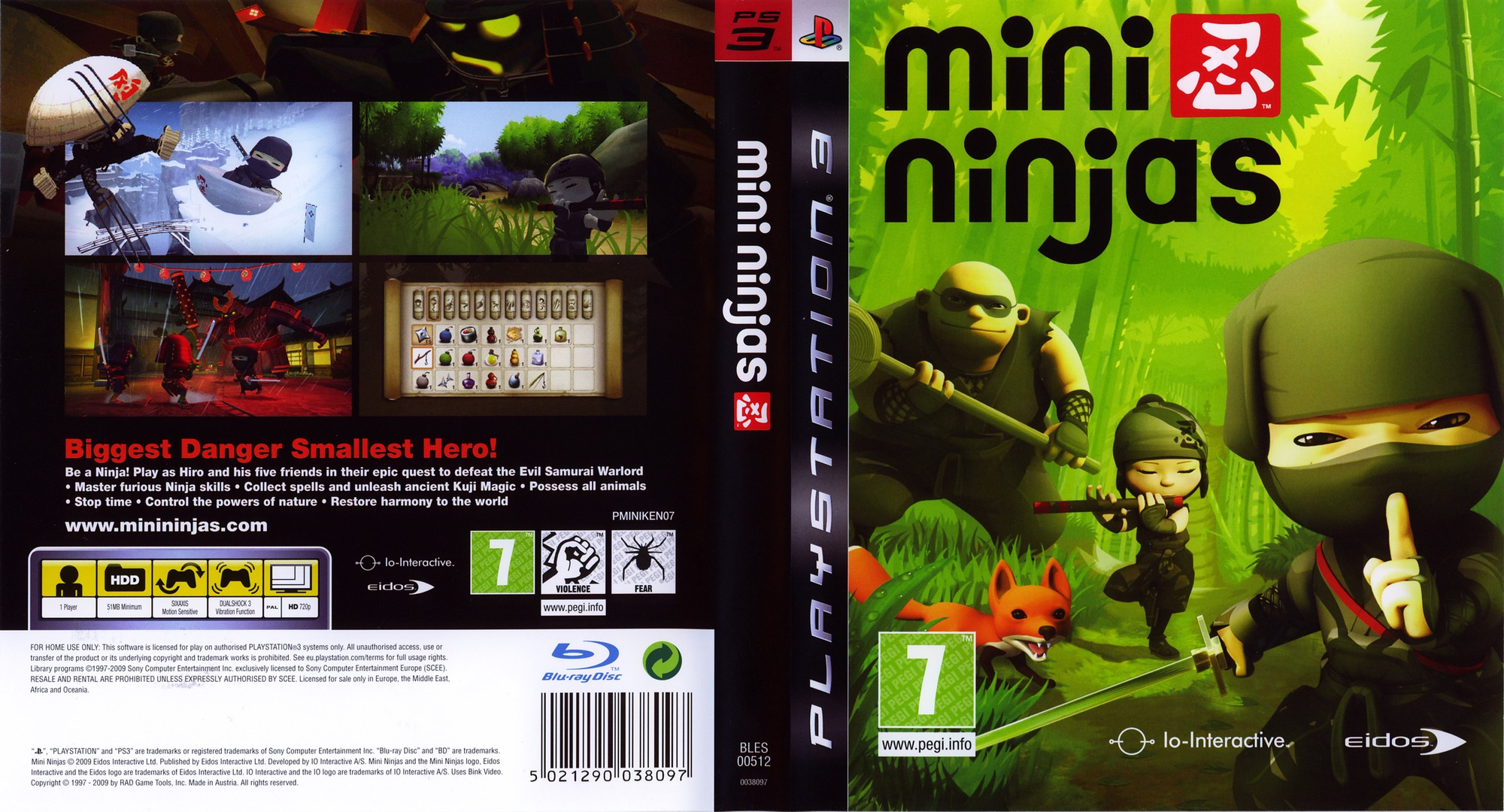 Mini Ninjas PS3 coverfullHQ (BLES00512)