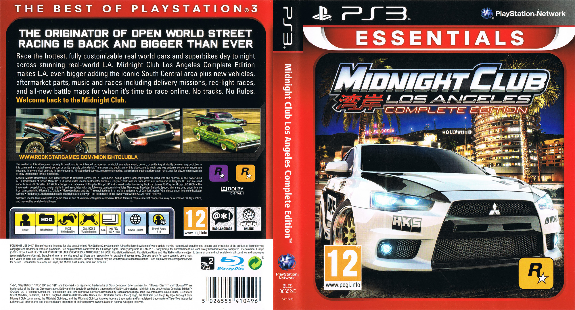 Midnight Club: Los Angeles - Complete Edition PS3 coverfullHQ (BLES00652)