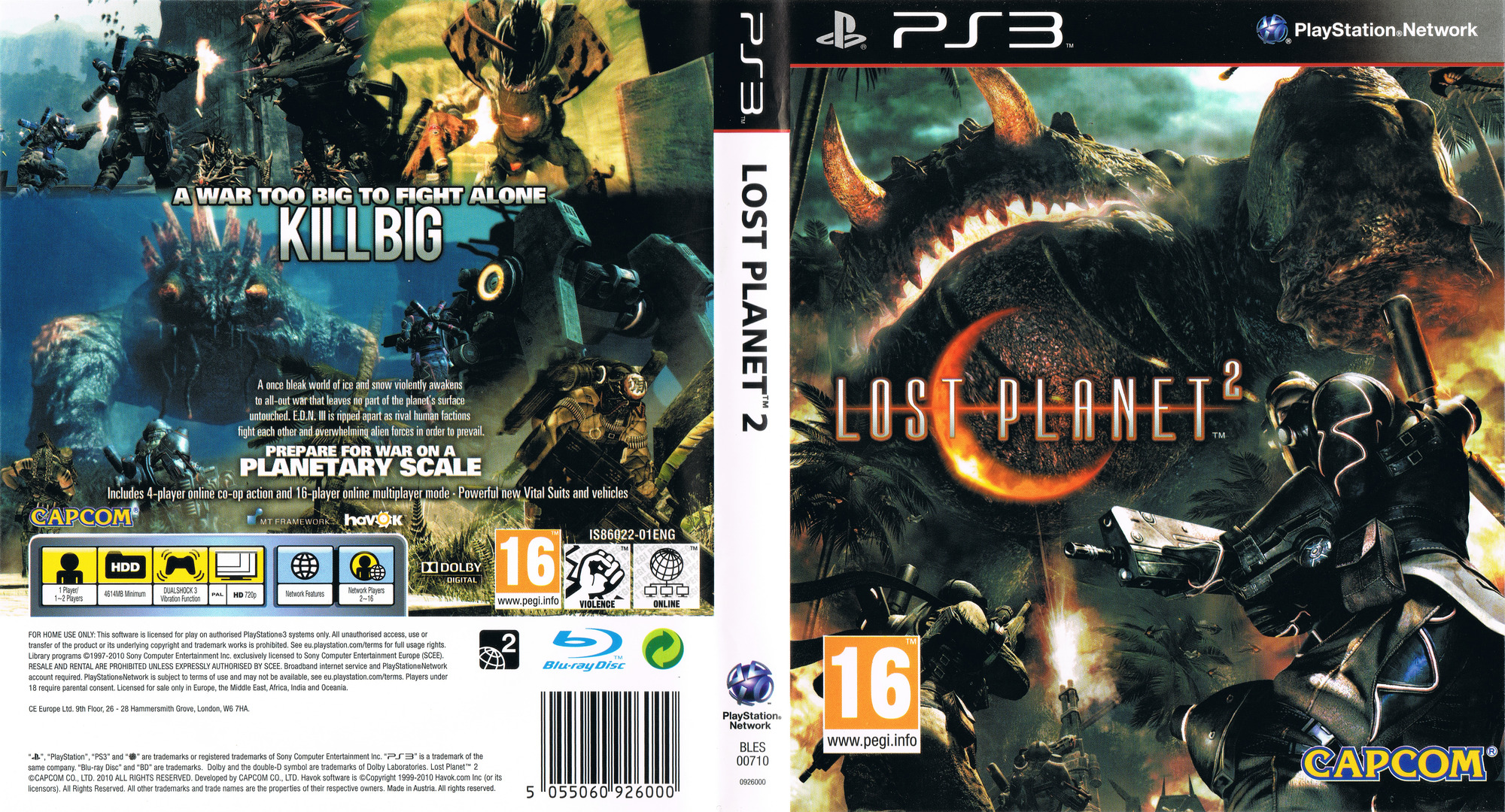 Lost Planet 2 PS3 coverfullHQ (BLES00710)