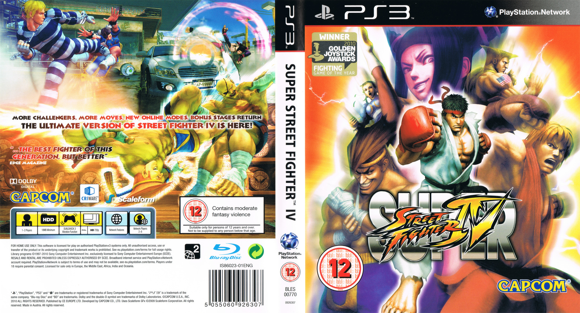 Super Street Fighter IV PS3 coverfullHQ (BLES00770)