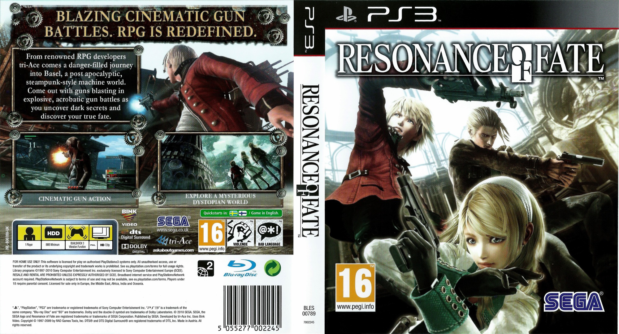 Resonance of Fate PS3 coverfullHQ (BLES00789)