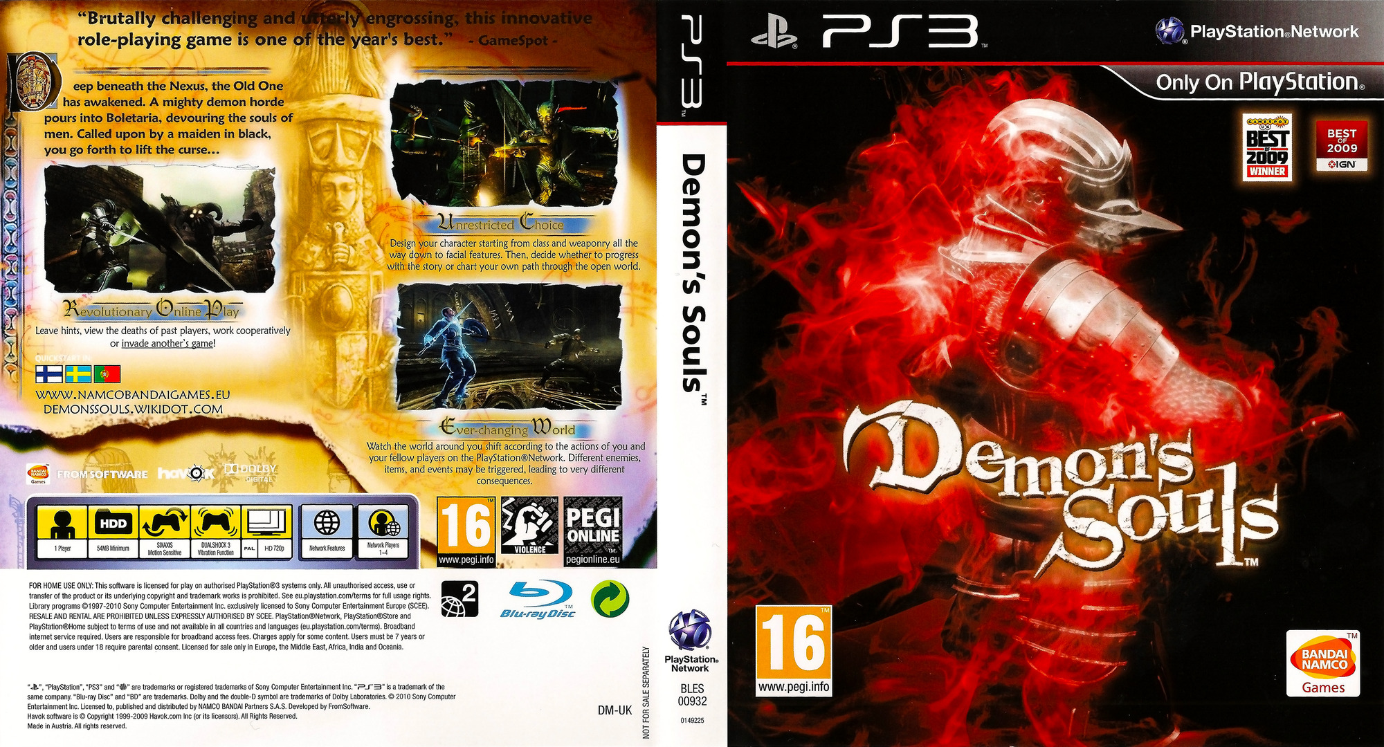 Demon's Souls PS3 coverfullHQ (BLES00932)