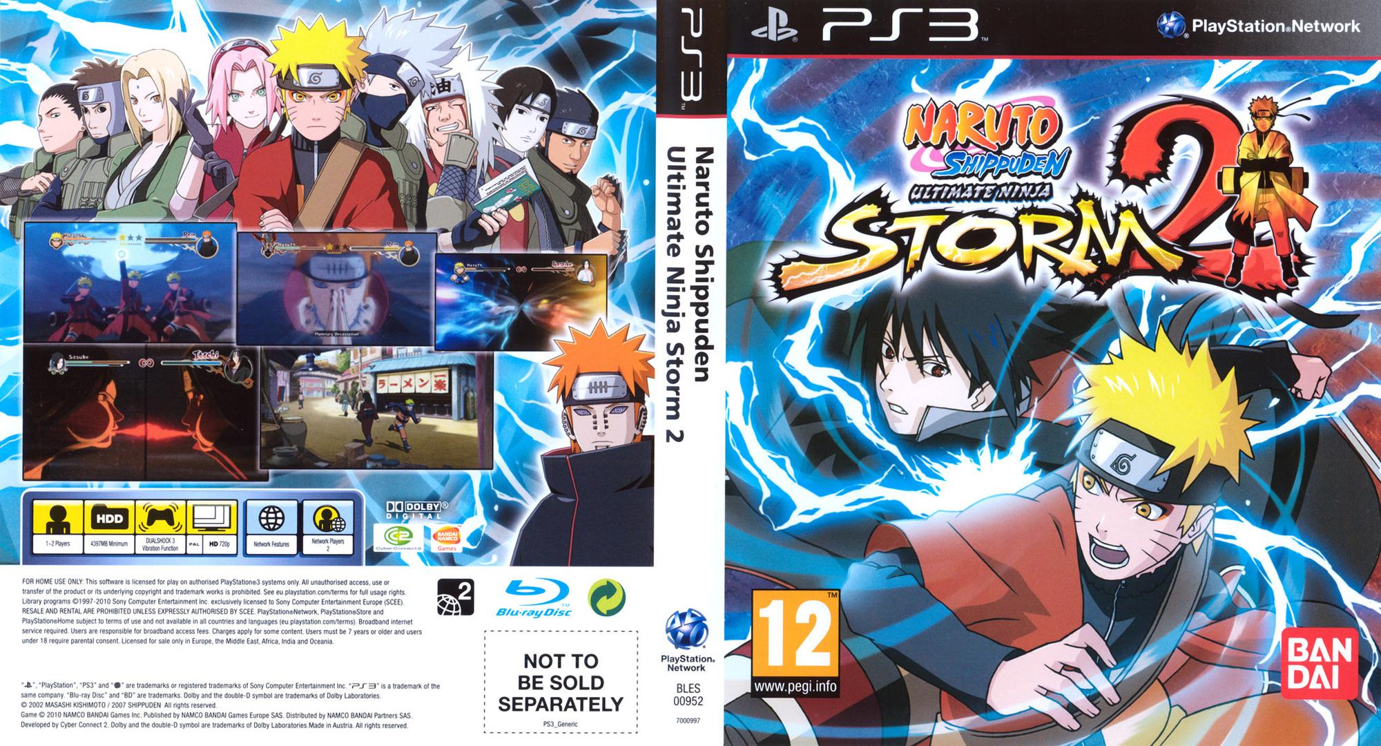 Naruto: Ninja Storm 2 PS3 coverfullHQ (BLES00952)