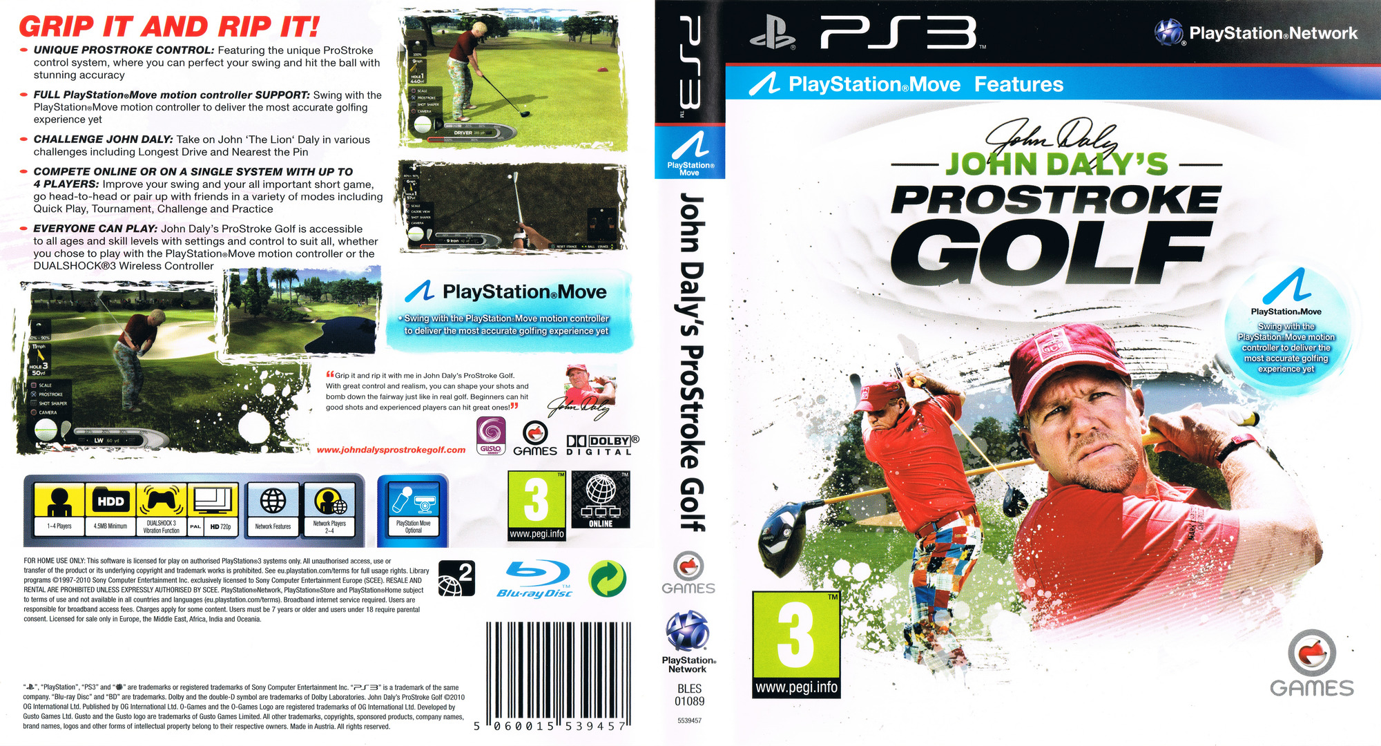 John Daly's ProStroke Golf PS3 coverfullHQ (BLES01089)