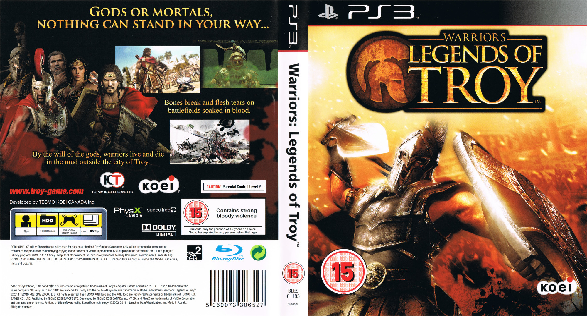 Warriors: Legends of Troy PS3 coverfullHQ (BLES01183)
