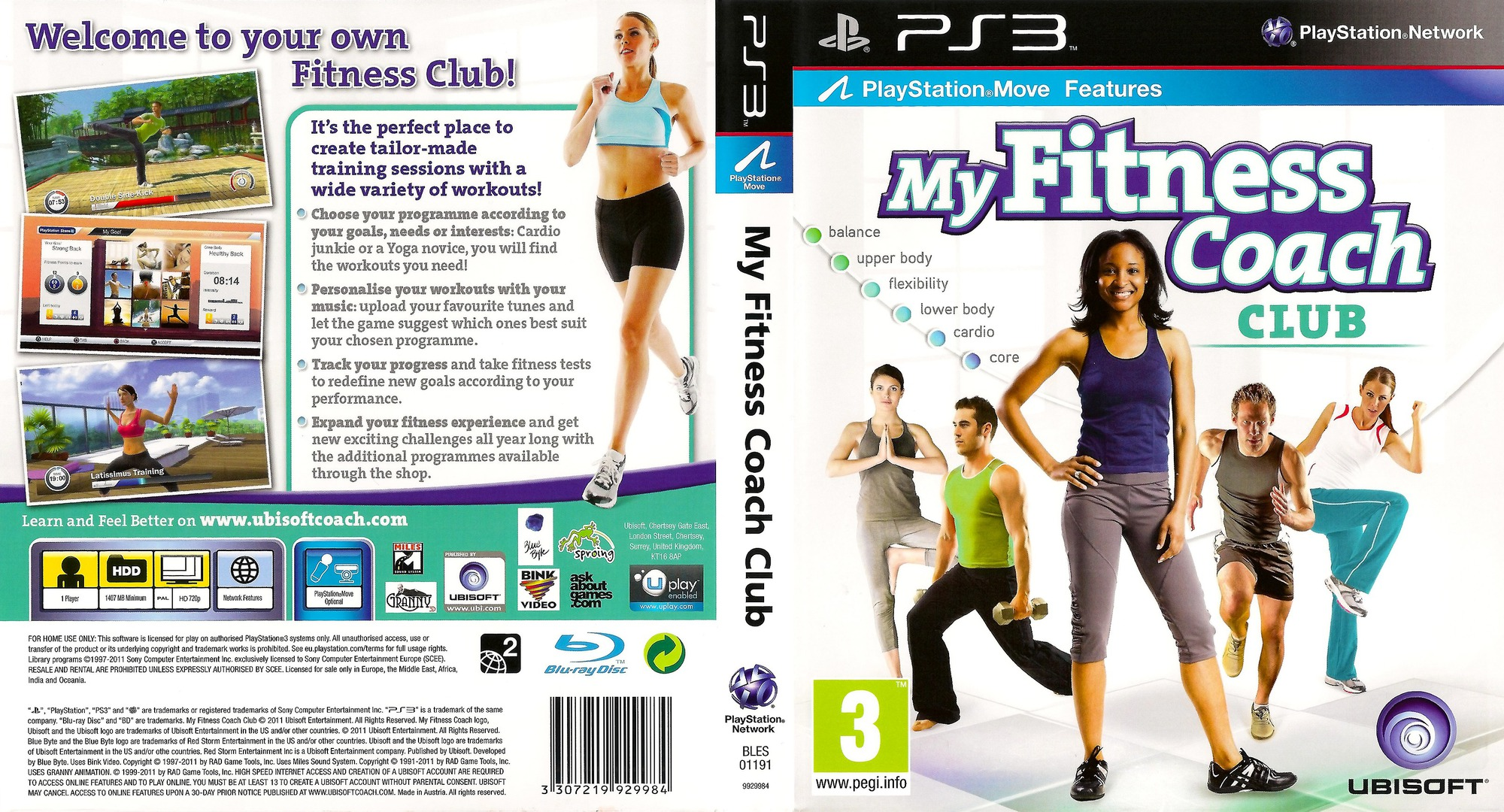 My Fitness Coach - Club PS3 coverfullHQ (BLES01191)